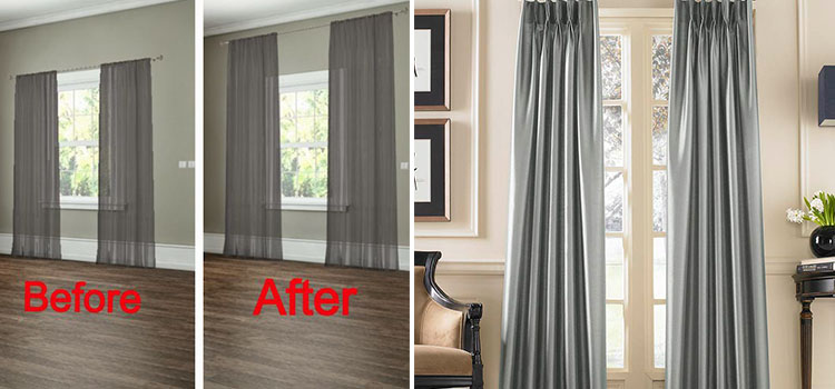 Floor-to-ceiling Curtains Cleaning