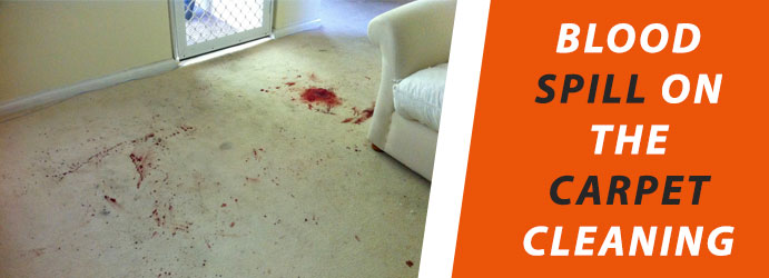 Blood spill on the Carpet Cleaning