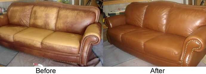 Leather Couch Cleaning Maroon