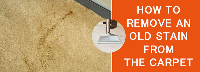 Remove an Old Stain From the Carpet
